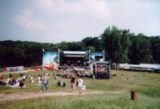 The Main Stage of Cornerstone has hosted such acts as , , P.O.D., MxPx,  and .