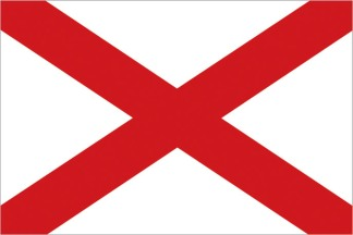 Flag of Alabama. Image provided by Classroom Clip Art (http://classroomclipart.com)