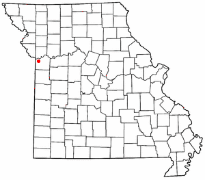 Location of Kansas City