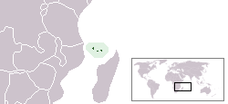 Location of Comoros