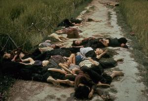 U.S. soldiers' massacre of Vietnamese villagers at .