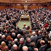 The House of Commons during a busy session.