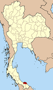 Map of Thailand highlighting Pattani Province