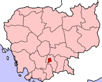Location of Phnom Penh, Cambodia
