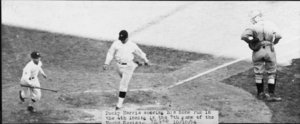 Washington's  scores his home run in the fourth inning of Game 7, October 10, 1924
