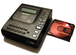 The Sony MZ1 MiniDisc player, the first to hit the market in 1992.