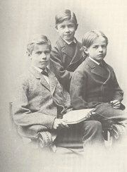 Max Weber and his brothers Alfred and Karl in 1879.