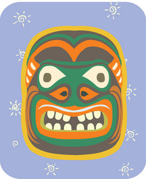 Aboriginal Mask Clipart.