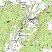 Example of a topographic map with contour lines
