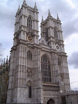 Westminster Abbey's western facade