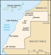 Map of Western Sahara