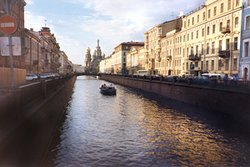 One of St Petersburg's many canals
