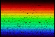 Extremely high resolution spectrum of the Sun showing thousands of elemental absorption lines ().