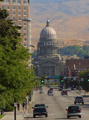 The State Capitol in Boise, Idaho