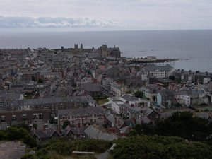 Aberystwyth, viewed from the top of Constitution Hill